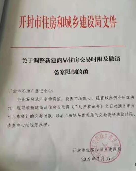 河南开封取消新建商品住房限售令 未来楼市怎么走?
