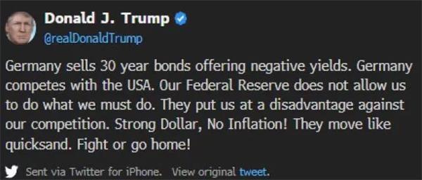 经济衰退信号接连出现 特朗普慌了:一周三次炮轰美联储 降息!降息!降息!