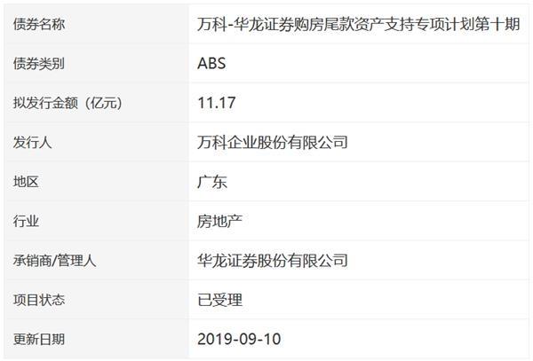 <a href=/gupiao/000002.html class=red>万科</a>11.17亿元资产专项支持债券已获深交所受理-中国网地产