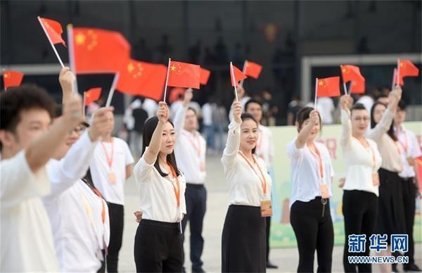 """(社会)(3)多地举行祝福香港·点赞祖国""""活动"""