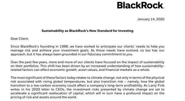 气候变化已成投资风险!7万亿美元资管巨头宣布