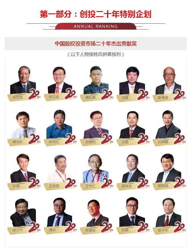 Zero2IPO 2020中国股权投资年度排名榜