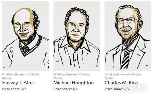 诺贝尔生理学或医学奖揭晓!他们发现了丙肝病毒 数百万人的生命得以挽救