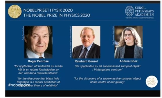 """2020年诺贝尔物理学奖揭晓!他们发现神奇的""""黑洞"""" 分享760万奖金!"""