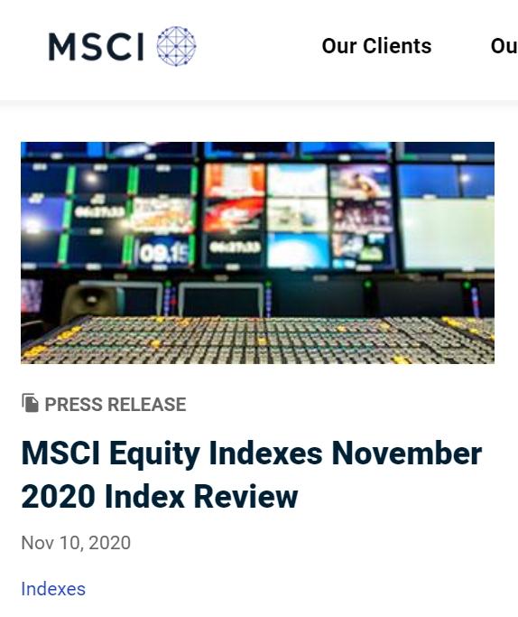 最新msci成分股名单