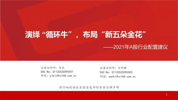 """2021年华西战略展望a股:市场演绎流通牛布局""""新五朵金花"""""""