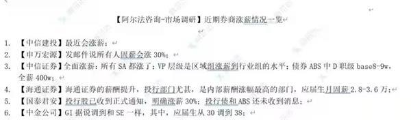 金融圈炸锅!六大券商集体涨薪?固定薪水涨30% 应届生月薪3.6万?
