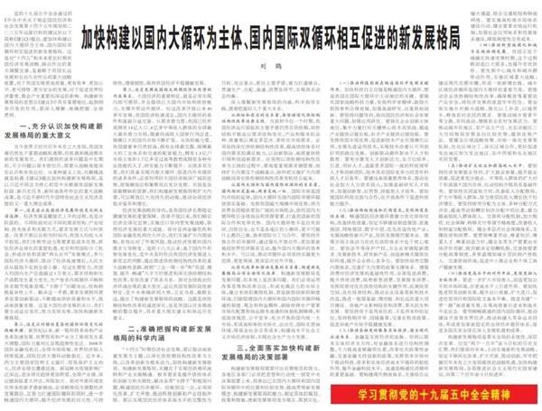 """信息量巨大!刘禾最新5000字长的演讲,诠释了""""双循环""""的新发展格局!还提到了长期租赁市场"""