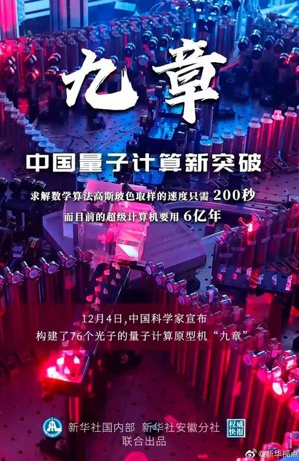 中国量子计算新突破!这台计算机只用了200秒就完成了6亿年的工作