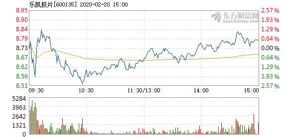 乐凯胶片2月20日快速反弹 换手率0.97%