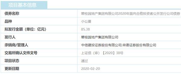 碧桂园地产85.38亿元公司债券获上交所通过-中国网地产