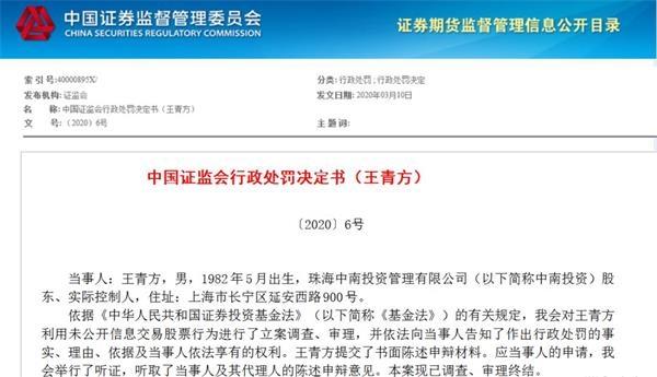 """[东方决策配资]又见私募基金""""老鼠仓""""!80后实控人被罚没2666万"""