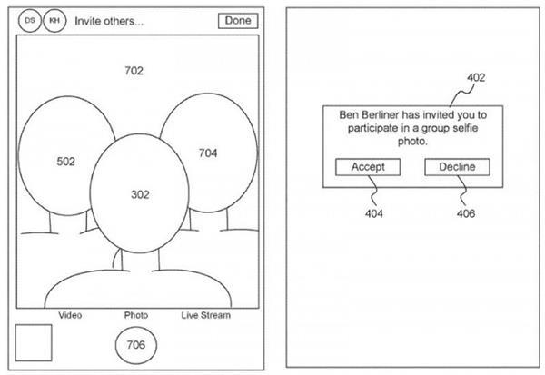 苹果公司获得了自拍新专利:用户可以在不在一起的时候合成集体自拍