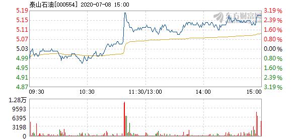 泰山石油7月8日快速上涨