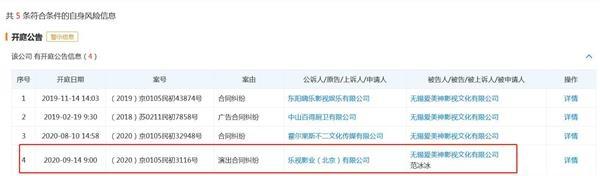 """《【恒达娱乐平台首页】乐视将范冰冰告上法庭!""""爱美神""""刚被吴秀波公司起诉》"""