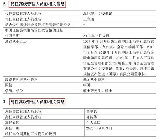 工银瑞信基金董事长郭特华辞任 年内15家基金公司董事长变更