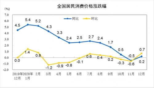 国家统计局:2020年CPI同比增长2.5%,住宅价格同比下降0.4%