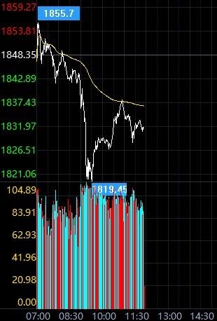 现货黄金急跌后反弹