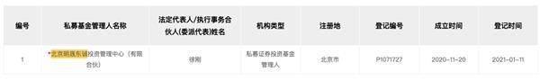 """中信证券前高管徐刚创立私募 王亚伟等私募""""豪华阵容""""入股"""