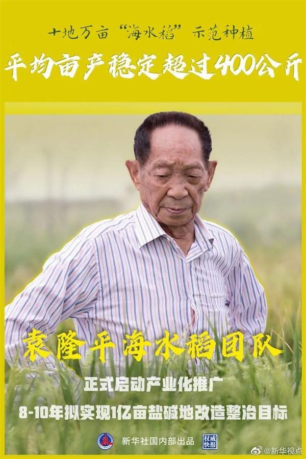 袁隆平海水稻团队又放大招了