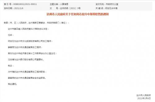 王志德成为达州银行董事长