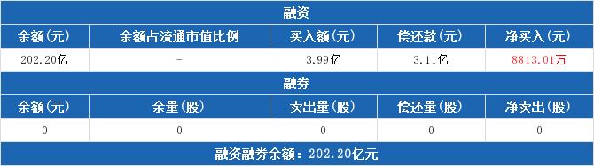 恒生ETF:融资净买入8813.01万元 融资余额202.2亿元(05-13)